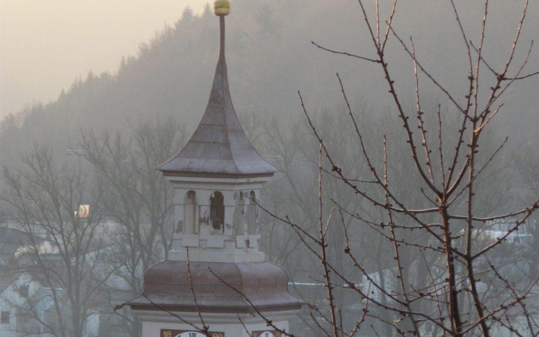 Rathausturm Wintermorgen