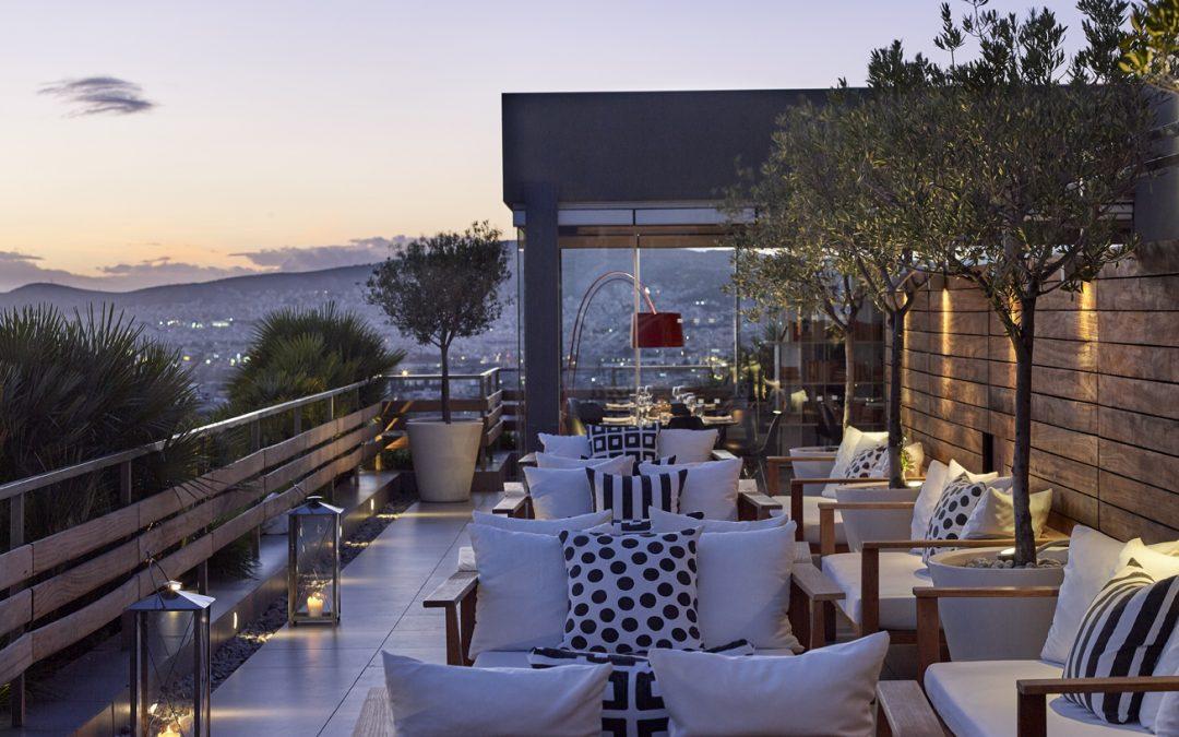 Außenansicht Terrasse Fresh Hotel Athen